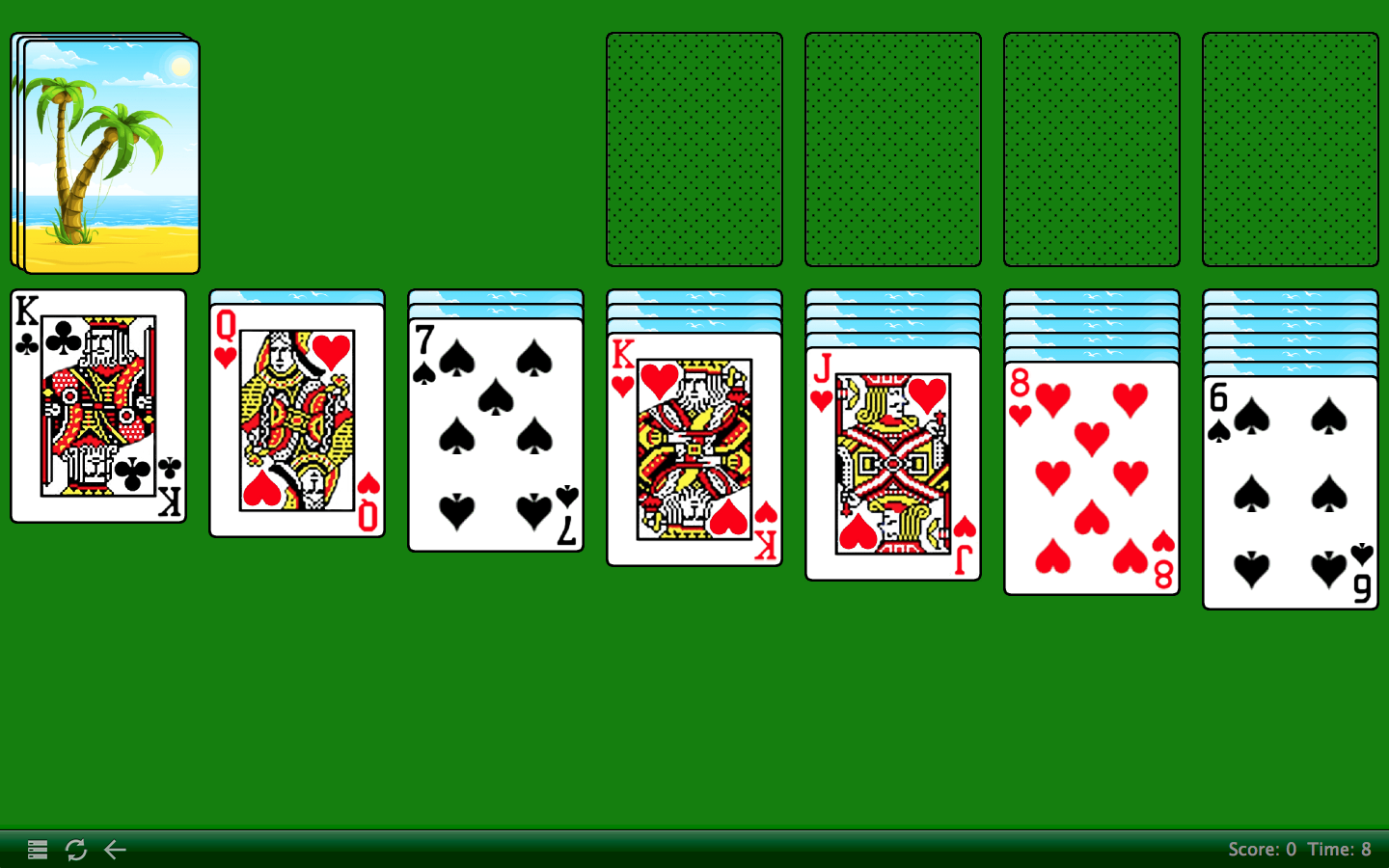 Freecell Solitaire Green Felt